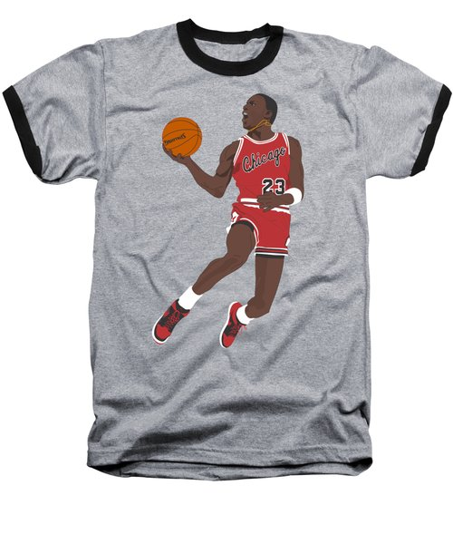 Chicago Bulls - Michael Jordan - 1985 Baseball T-Shirt by Troy Arthur Graphics
