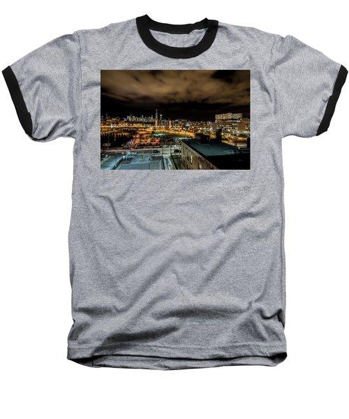 Chicago City And Skyline Baseball T-Shirt