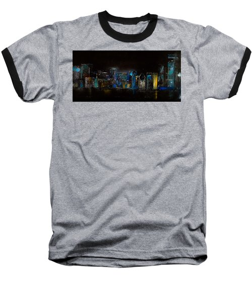 Chicago City Scene Baseball T-Shirt
