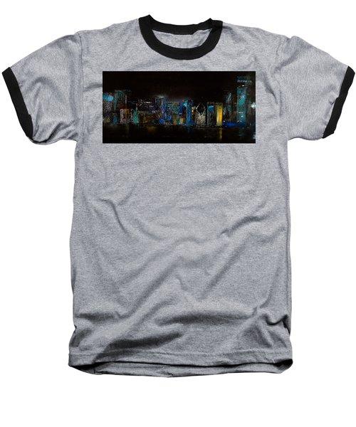 Chicago City Scene Baseball T-Shirt