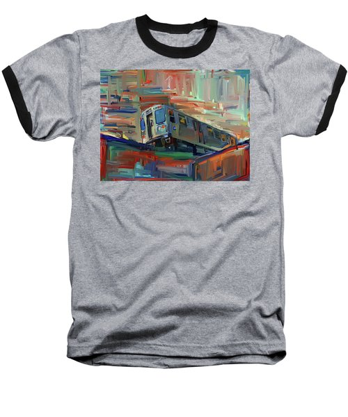 Chicago City Train Baseball T-Shirt