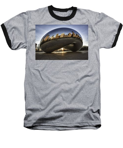Chicago Cloud Gate At Sunrise Baseball T-Shirt