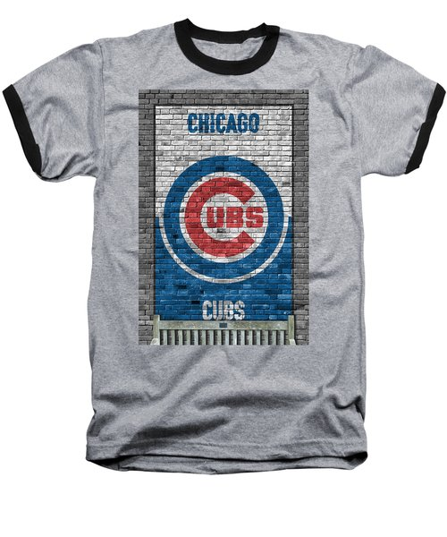 Chicago Cubs Brick Wall Baseball T-Shirt