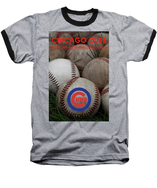 Chicago Cubs World Series Poster Baseball T-Shirt by David Patterson