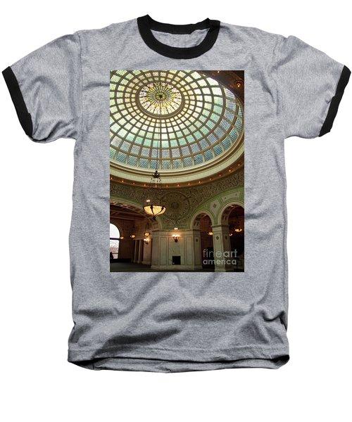 Chicago Cultural Center Dome Baseball T-Shirt