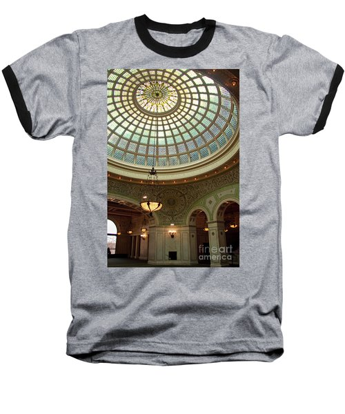 Chicago Cultural Center Dome Baseball T-Shirt
