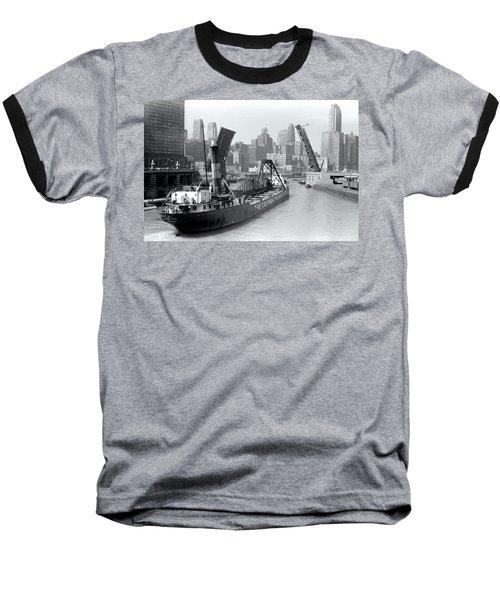 Baseball T-Shirt featuring the photograph Chicago Draw Bridge 1941 by Daniel Hagerman