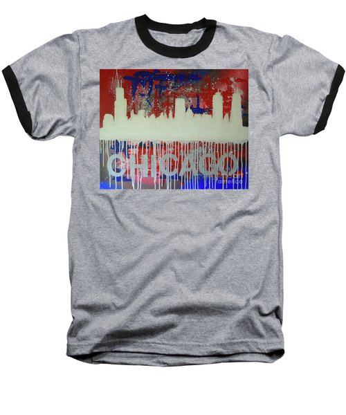 Chicago Drip Baseball T-Shirt by Melissa Goodrich