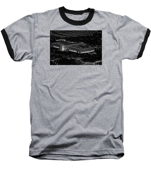 Chicago Field Museum Bw Baseball T-Shirt