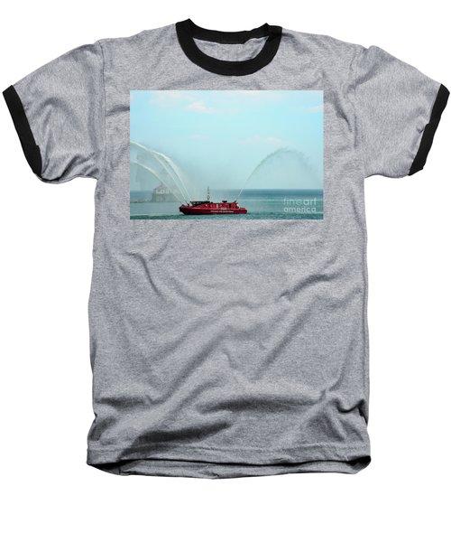 Chicago Fire Department Fireboat Baseball T-Shirt