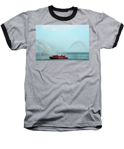 Chicago Fire Department Fireboat Baseball T-Shirt