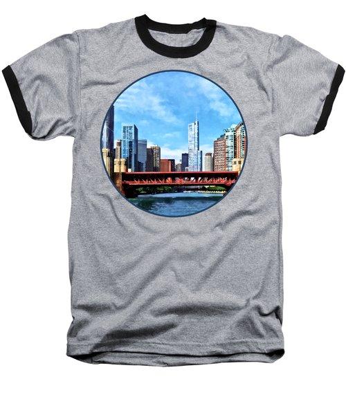 Chicago Il - Lake Shore Drive Bridge Baseball T-Shirt