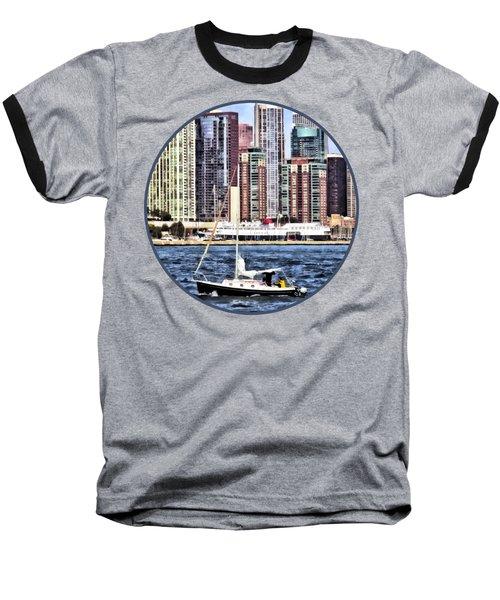 Chicago Il - Sailing On Lake Michigan Baseball T-Shirt