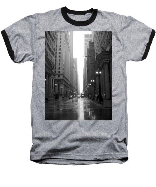 Chicago In The Rain 2 B-w Baseball T-Shirt