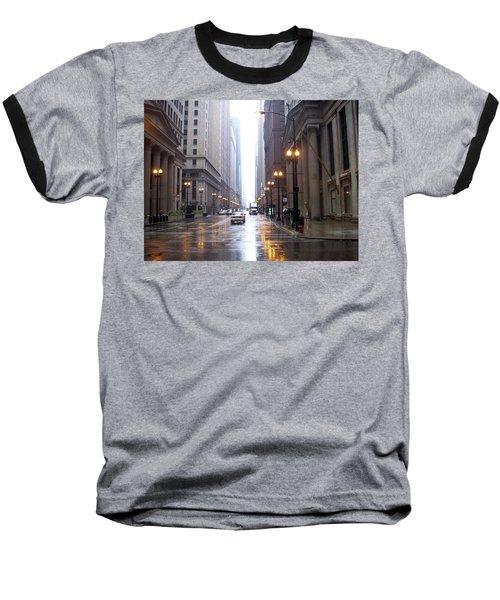 Chicago In The Rain Baseball T-Shirt