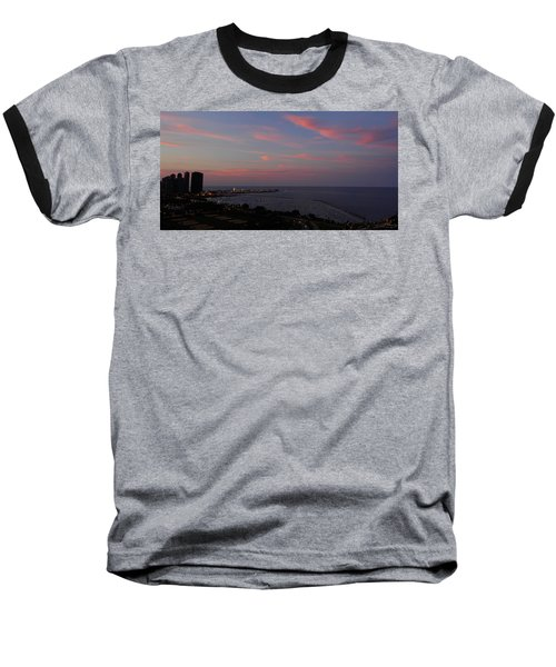 Chicago Lakefront At Sunset Baseball T-Shirt