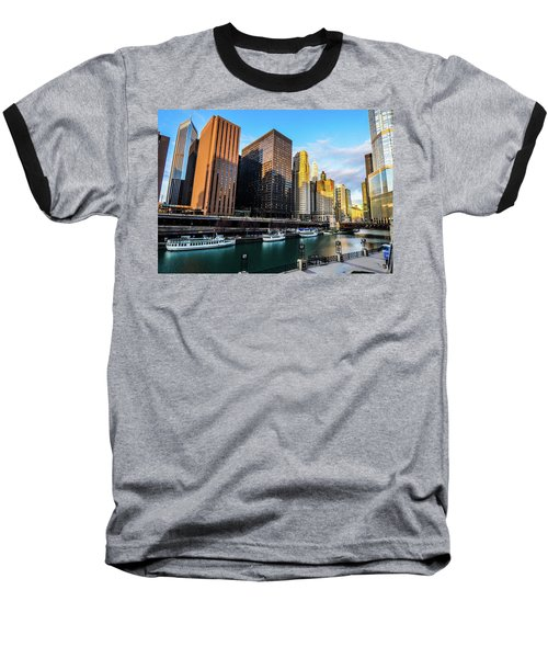 Chicago Navy Pier Baseball T-Shirt