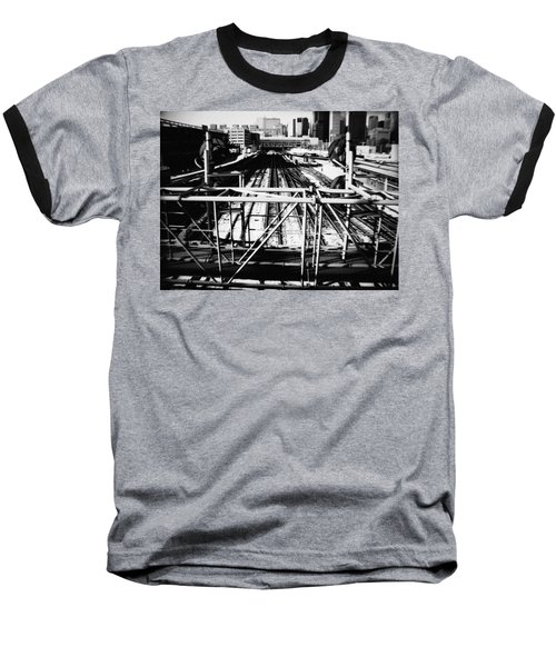 Chicago Railroad Yard Baseball T-Shirt