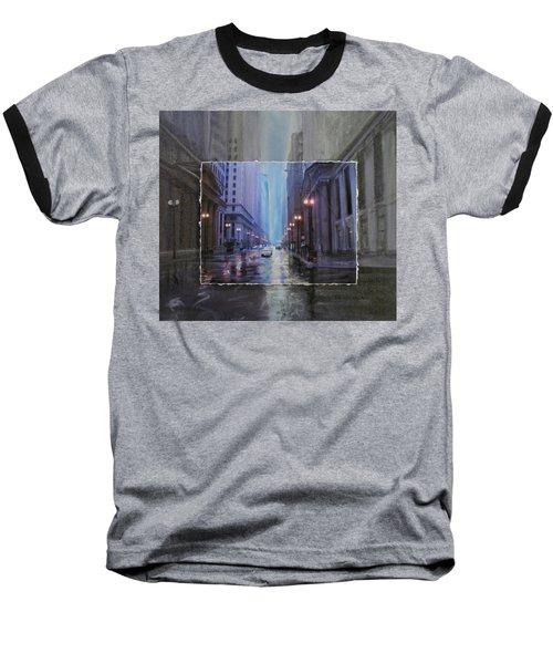 Chicago Rainy Street Expanded Baseball T-Shirt
