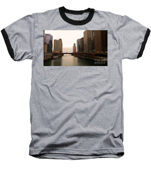Baseball T-Shirt featuring the photograph Chicago Rive by Elizabeth Coats