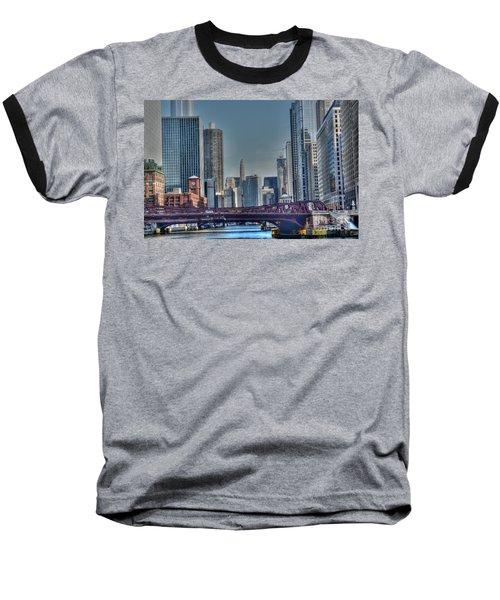 Chicago River East Baseball T-Shirt