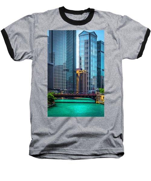 Chicago River From Michigan Ave Dsc2107 Baseball T-Shirt by Raymond Kunst