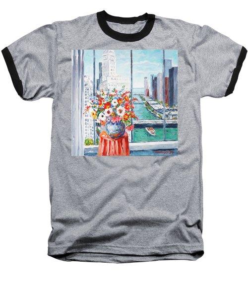 Chicago River Baseball T-Shirt