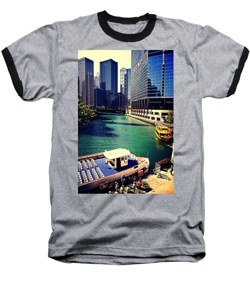 City Of Chicago - River Tour Baseball T-Shirt