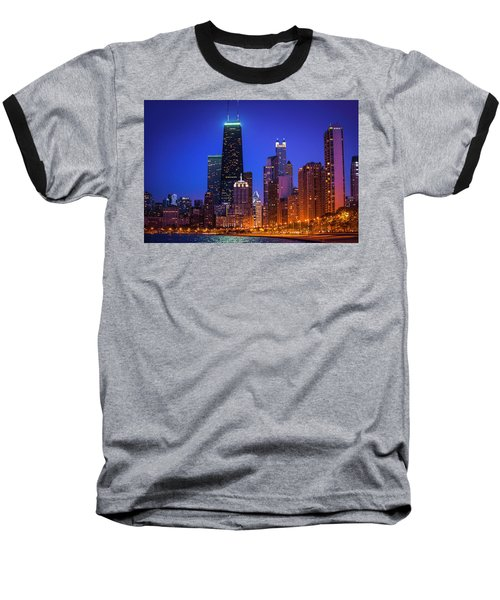 Chicago Shoreline Skyscrapers Baseball T-Shirt