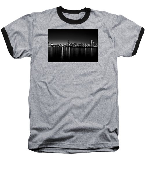 Baseball T-Shirt featuring the photograph Chicago Skyline Bnw by Richard Zentner