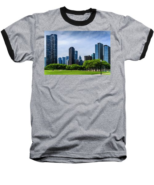 Chicago Skyline Baseball T-Shirt