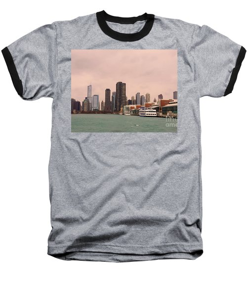 Baseball T-Shirt featuring the photograph Chicago Skyline by Elizabeth Coats