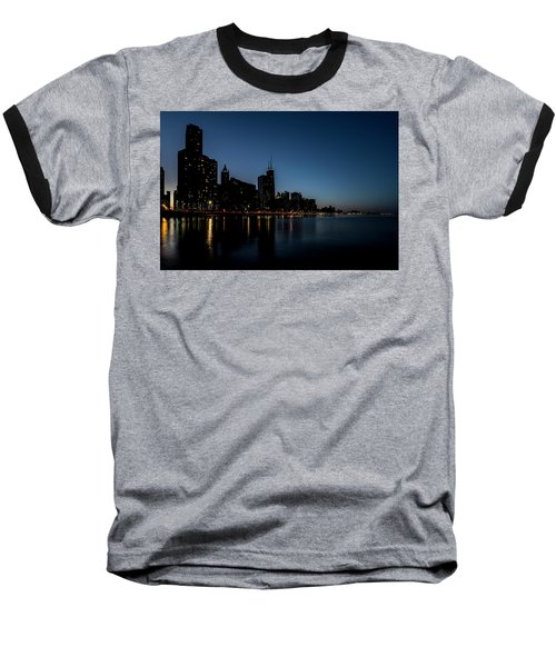 Chicago Skyline From Olive Park  Baseball T-Shirt