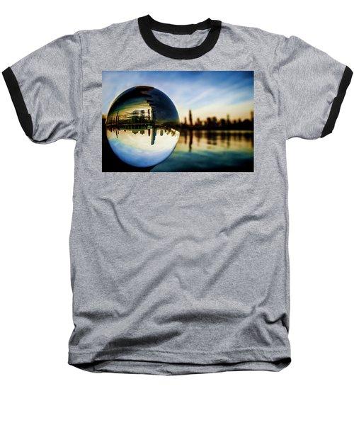Chicago Skyline Though A Glass Ball Baseball T-Shirt