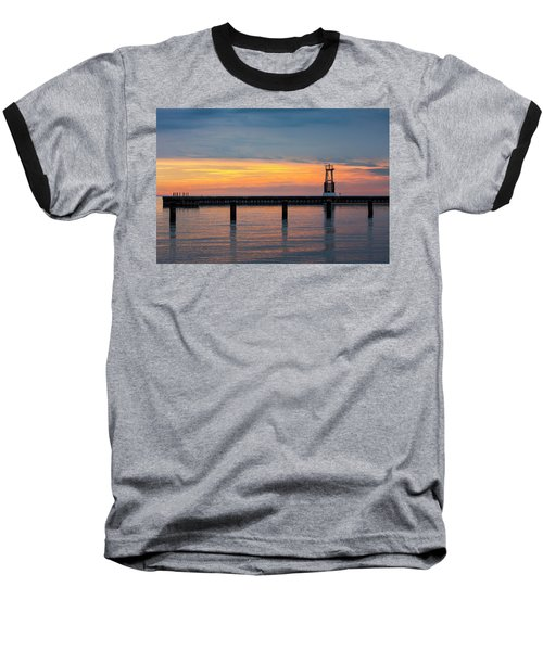 Baseball T-Shirt featuring the photograph Chicago Sunrise At North Ave. Beach by Adam Romanowicz