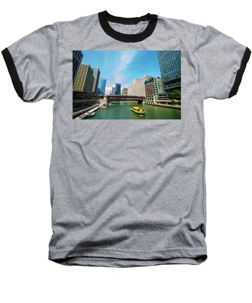 Baseball T-Shirt featuring the photograph Chicago, That Toddlin' Town by Deborah Smolinske