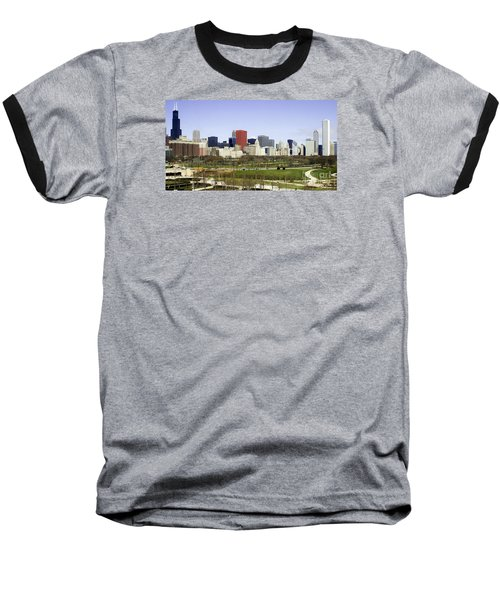 Chicago- The Windy City Baseball T-Shirt by Ricky L Jones