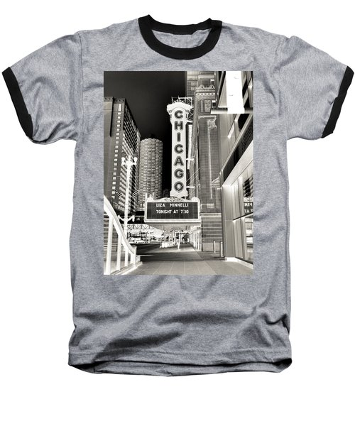 Chicago Theater - 2 Baseball T-Shirt by Ely Arsha