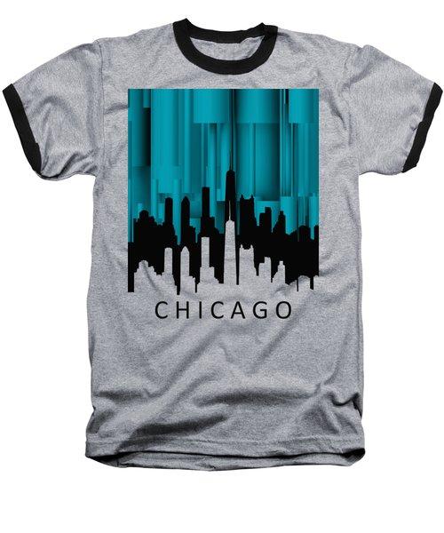 Chicago Turqoise Vertical Baseball T-Shirt