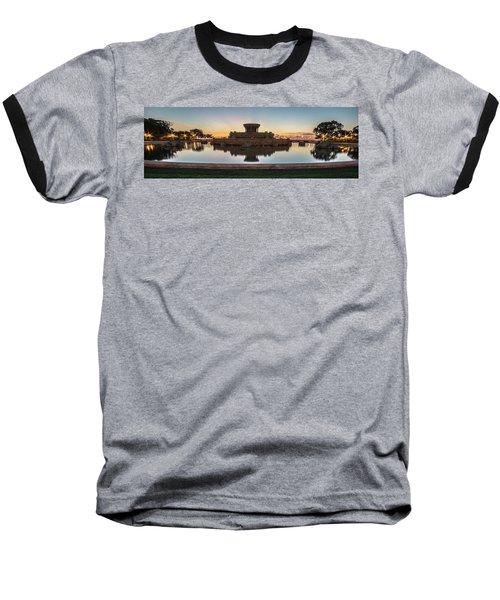 Chicago's Buckingham Fountain At Dawn  Baseball T-Shirt