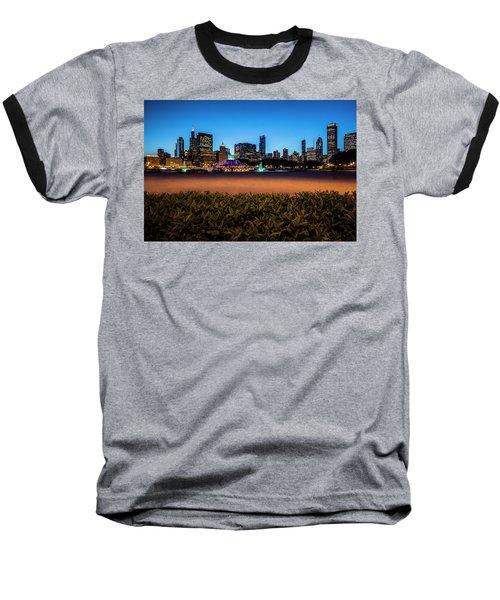 Chicago's Buckingham Fountain At Dusk  Baseball T-Shirt