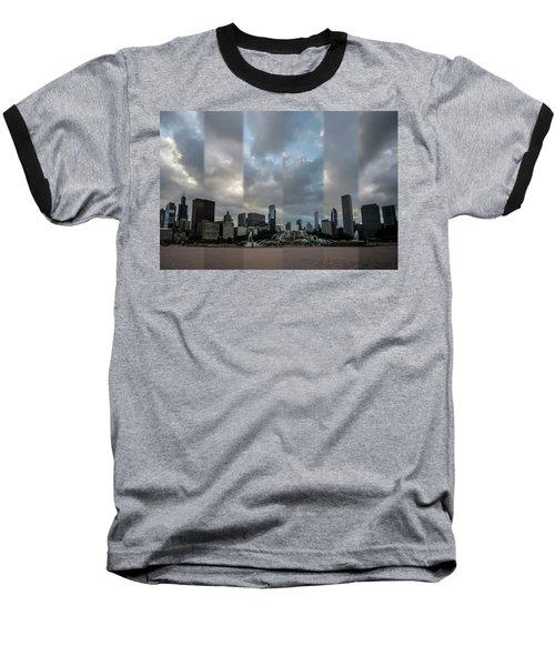 Chicago's Buckingham Fountain Time Slice Photo Baseball T-Shirt