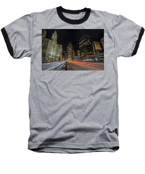 Chicago's Mag Mile Night Streaks Baseball T-Shirt