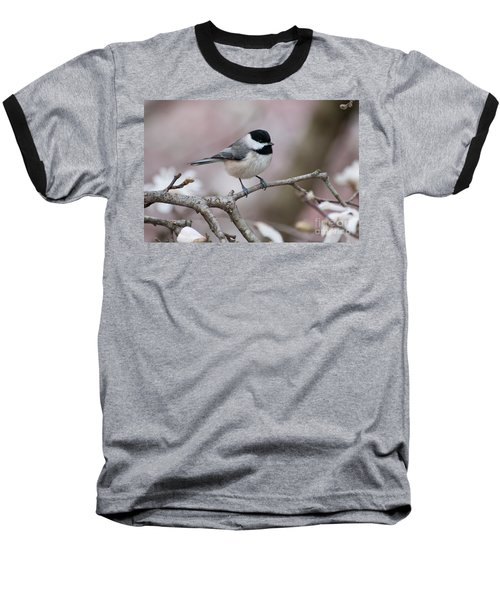 Baseball T-Shirt featuring the photograph Chickadee - D010026 by Daniel Dempster