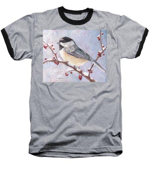 Chickadee Dee Dee Baseball T-Shirt by Shana Rowe Jackson