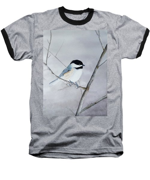 Chickadee II Baseball T-Shirt by Laurel Best
