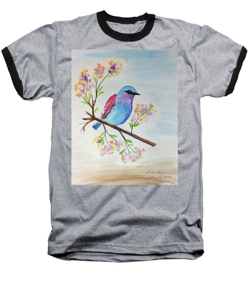 Chickadee On A Branch Baseball T-Shirt