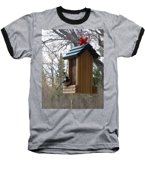 Baseball T-Shirt featuring the photograph Chickadee by Wendy Shoults
