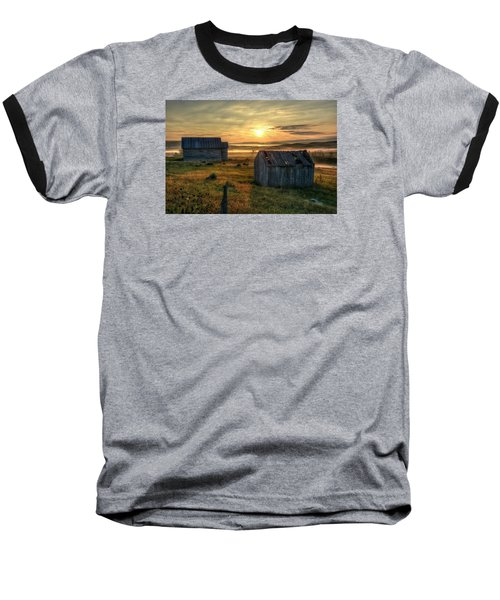 Chicken Creek Schoolhouse Baseball T-Shirt by Fiskr Larsen