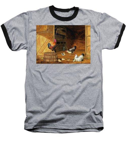 Chickens Baseball T-Shirt
